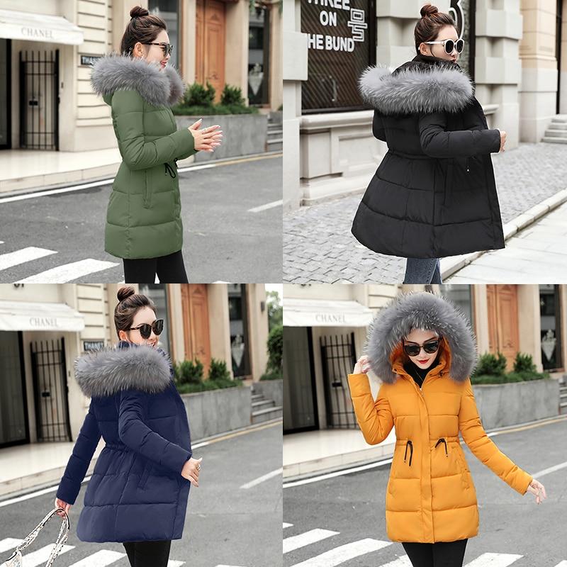 Hiver Automne Supérieure Parkas bleu jaune Laveur Green Raton Outwear Manteaux Porter Col Fourrure D'hiver De Noir army Femmes Qualité Faux Et Longs Veste QxWodrCBe