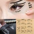 10 pçs/set das Mulheres Moda Stencil Template Delineador Cartão Delineador Delineador Maquiagem Dos Olhos Set Makeup Brushes Ferramentas Eye Liner 10 PCS