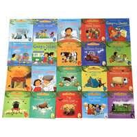 20 libri/Set 15x15 cm bambini Usborne Libri Illustrati Per Bambini Bambino famoso Storia Inglese Libro Bambino Cortile tales Storia Eary di istruzione