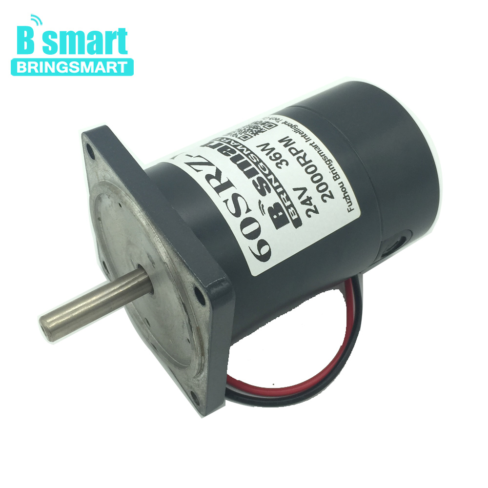 Bringsmart 60SRZ Y 2000 4000rpm 36W Mini Dc Motor Permanent Magnet High Speed Motor 12V 24V Reversible For Marshmallow Motor