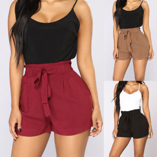 Summer Hot Ruffled Casual Loose Shorts Lace Up Trouser New Fashion Plus Size Women Ladies Short