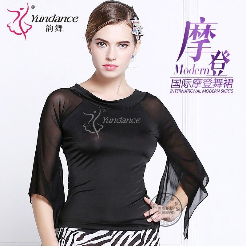 Customized Lady Latin Dancing Shirt Modern Dance Costume Waltz Valse Tango Galop Fox Trot Social Dance Suit Half-sleeve B-2721