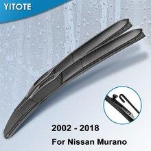 YITOTE гибридные стеклоочистители для Nissan МУРАНСКОГО подходящий крючок Модель года от 2002 до