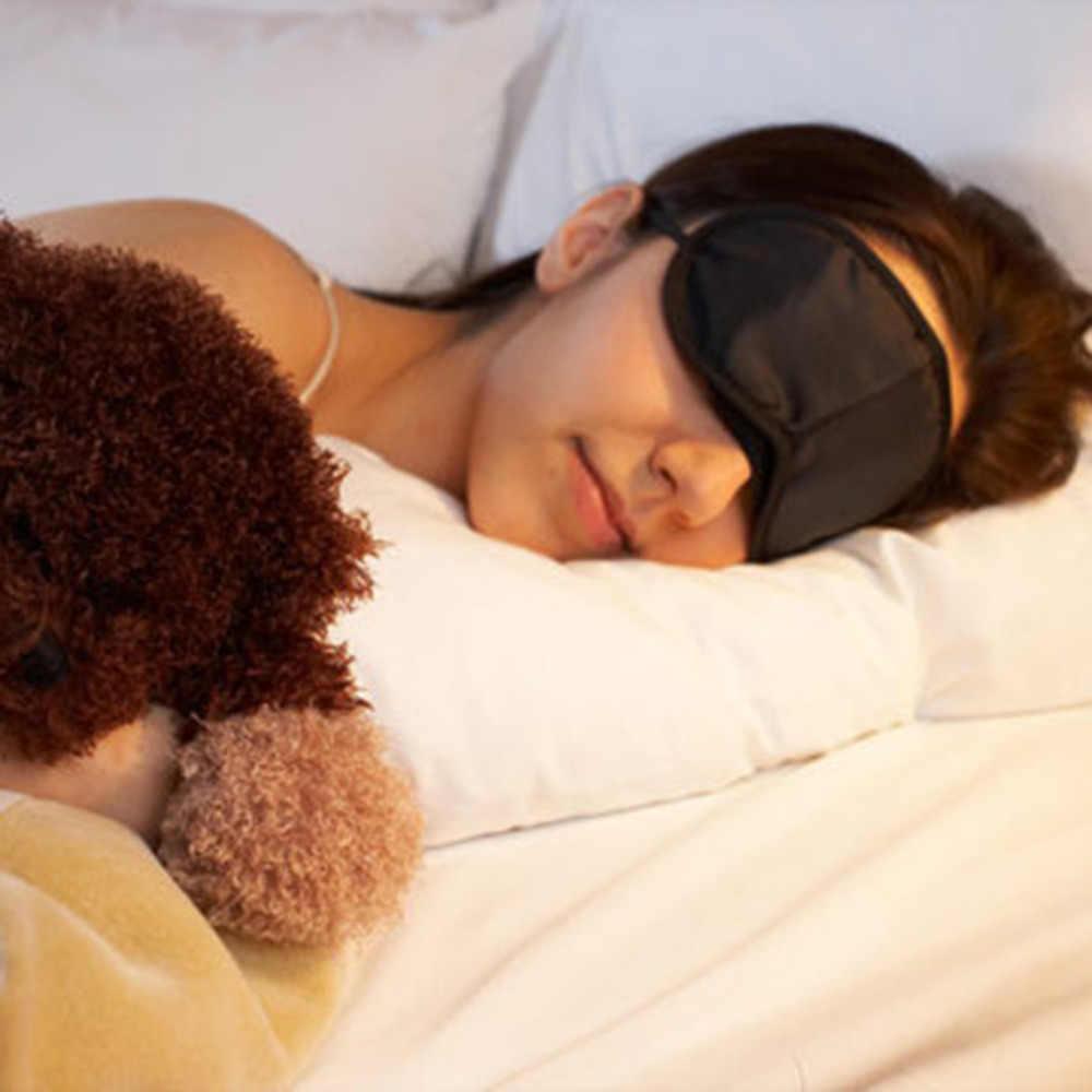 1 adet Yeni Göz Maskesi Rahat Uyku Maskesi Dinlenme Relax, seyahat Uyku Yardım Göz Maskesi Kapak göz bandı Uyku Maskesi Kılıfı