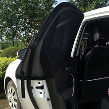 2PCS Adjustable Auto Car Side Window Sun Shade Black Mesh Solar Protection Covers Visor Shield Sunshade UV Protection Size L/XL
