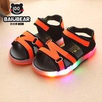 Été LED Enfants Enfants Chaussures Vert/rose/brun Flasher Enfant Bottes Filles et Garçons Sandales Enfants Chaussures Filles chaussures