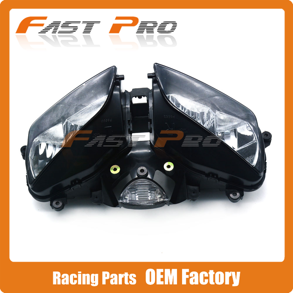 Motorcycle Headlights Headlamp Head Light Lamp Assembly For Honda CBR600RR F5 CBR600 2003 2004 2005 2006 motorcycle accessories front foot rests pedal bracket assembly kit for honda cbr600rr f5 2003 2004 2005 2006 cbr600