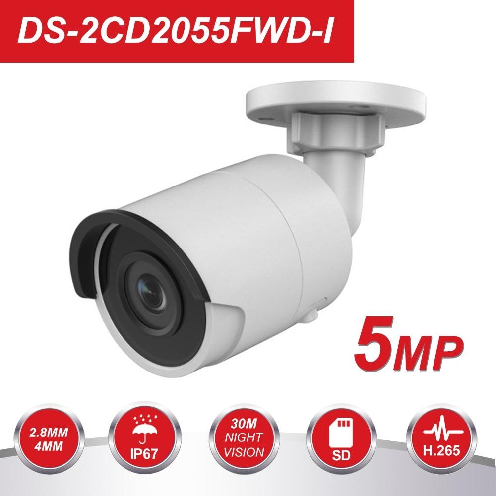 HIK 5MP Bullet IP Camera PoE Outdoor Ultra Low light Video Surveillance Camera Built in SD
