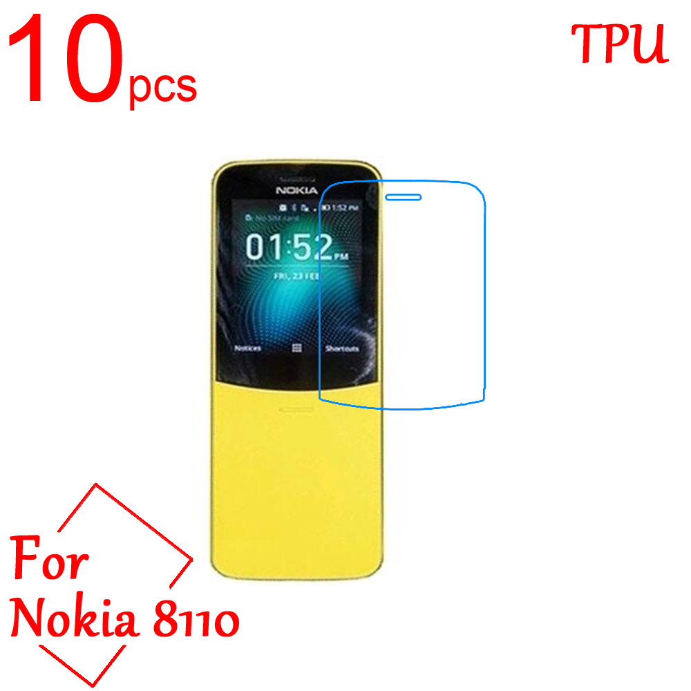 10pcs Ultra Clear TPU Soft LCD For Nokia 8110 Screen Protector Film Cover For Nokia 8110 4G Protective Film (Not Tempered glass)