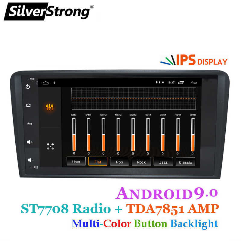 SilverStrong 2Din IPS Android9.0 車ラジオアウディ A3 RS3 2003 2004-2011 2008 A3 車の Gps ステレオナビゲーション s3 2 DIN ラジオ A3
