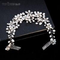 TOPQUEEN HP128 Wedding Tiara Bridal Combs Wedding Headwear Wedding Hair Accessories Bridal Headdress Wedding Hair Comb