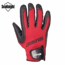 SeaKnight SK02 PU Leather Fishing Gloves 1Pair/Lot X XL XXL Full Finger Neoprene Anti-Slip Winter Gloves Outdoor Fishing Tackle