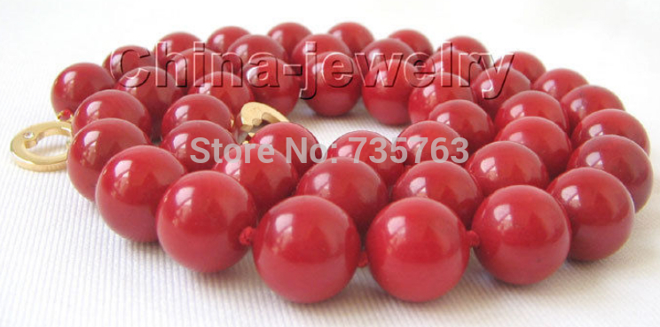 xiuli 0014894 AAA 21 10-11mm 100% perfect round red coral necklace - 14KGP gold filled claspxiuli 0014894 AAA 21 10-11mm 100% perfect round red coral necklace - 14KGP gold filled clasp