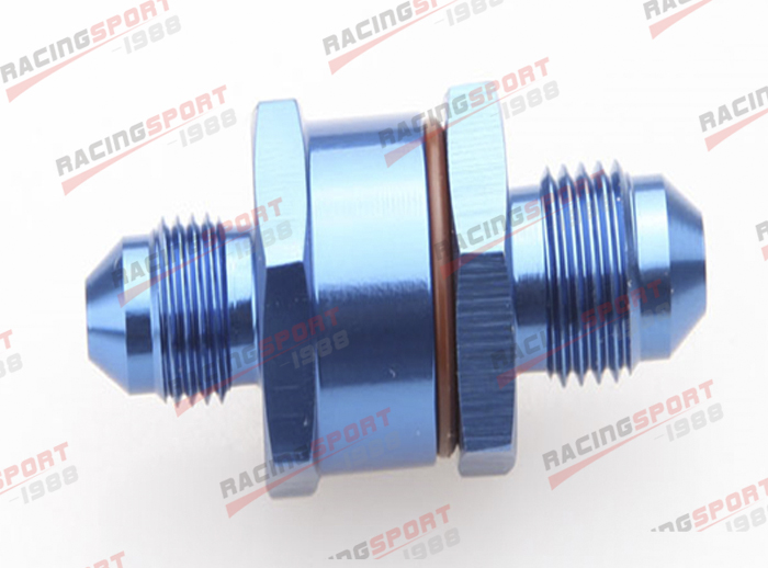 4AN Male To 4AN Male High Flow Billet Turbo Oil Feed Line Filter 80 Micron Black