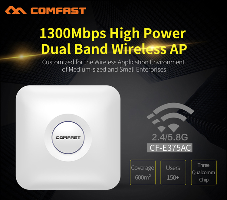 1300 Mbps Gigabit 2.4/5.8 GHz Ad Alta Potenza Dual Band Soffitto Wireless AP WiFi Access Point wifi Interna AP router Amplificatore di Segnale1300 Mbps Gigabit 2.4/5.8 GHz Ad Alta Potenza Dual Band Soffitto Wireless AP WiFi Access Point wifi Interna AP router Amplificatore di Segnale