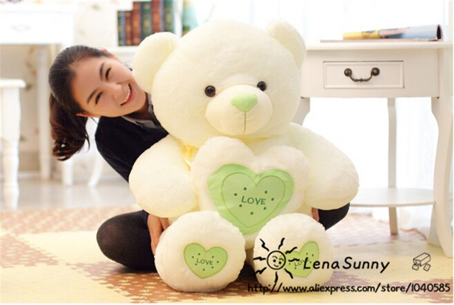 60 cm big teddy bear plush toys with heart lover gift for valentine day