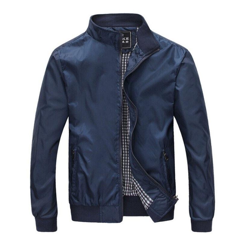 Stor størrelse 4XL 5XL Herre Forår Sommerjakker Casual Tynd Mand Windbreakers College Bomber Sort Windcheater Hommes Varsity Jacket