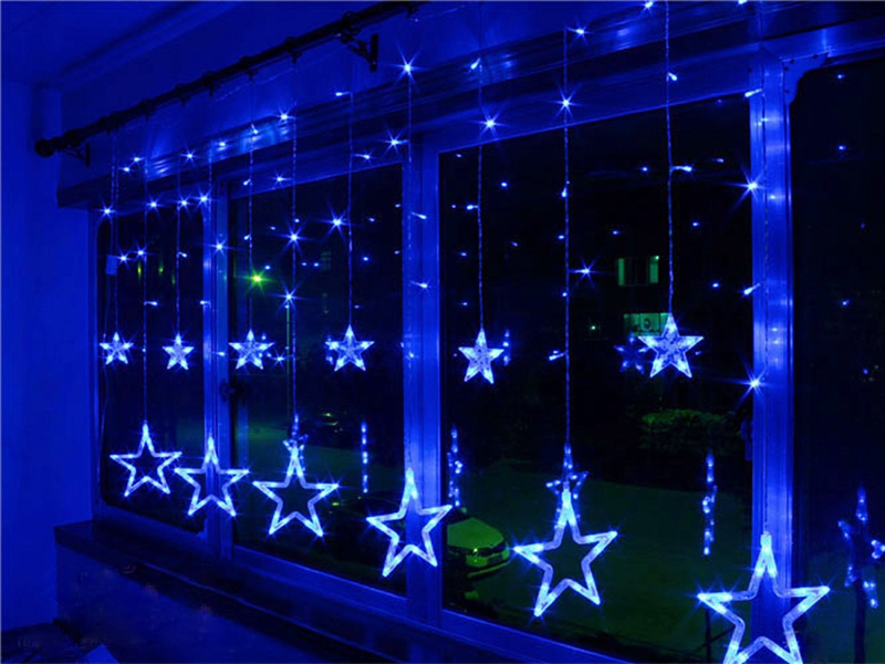 Xmas AC110V 220V Strobe Light Christmas Stars Style Decorative String Light for Christmas Partys ...
