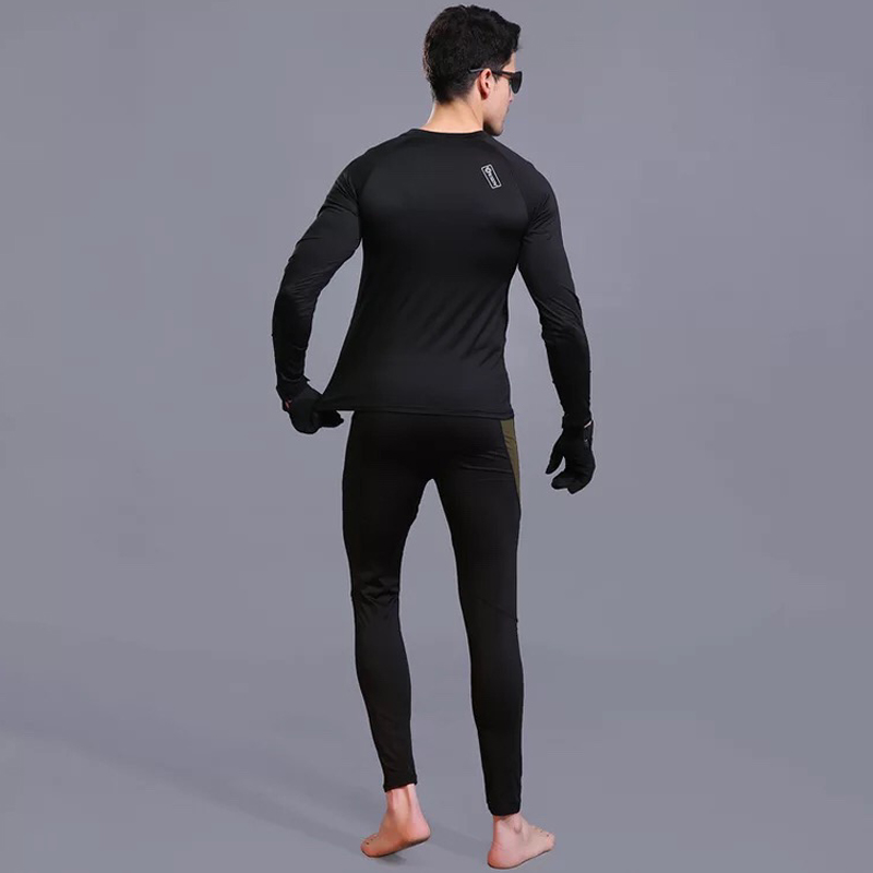 12872a6cc64 2019 Tactical Base Layer Winter Thermal Underwear Warm Up Cycling ...