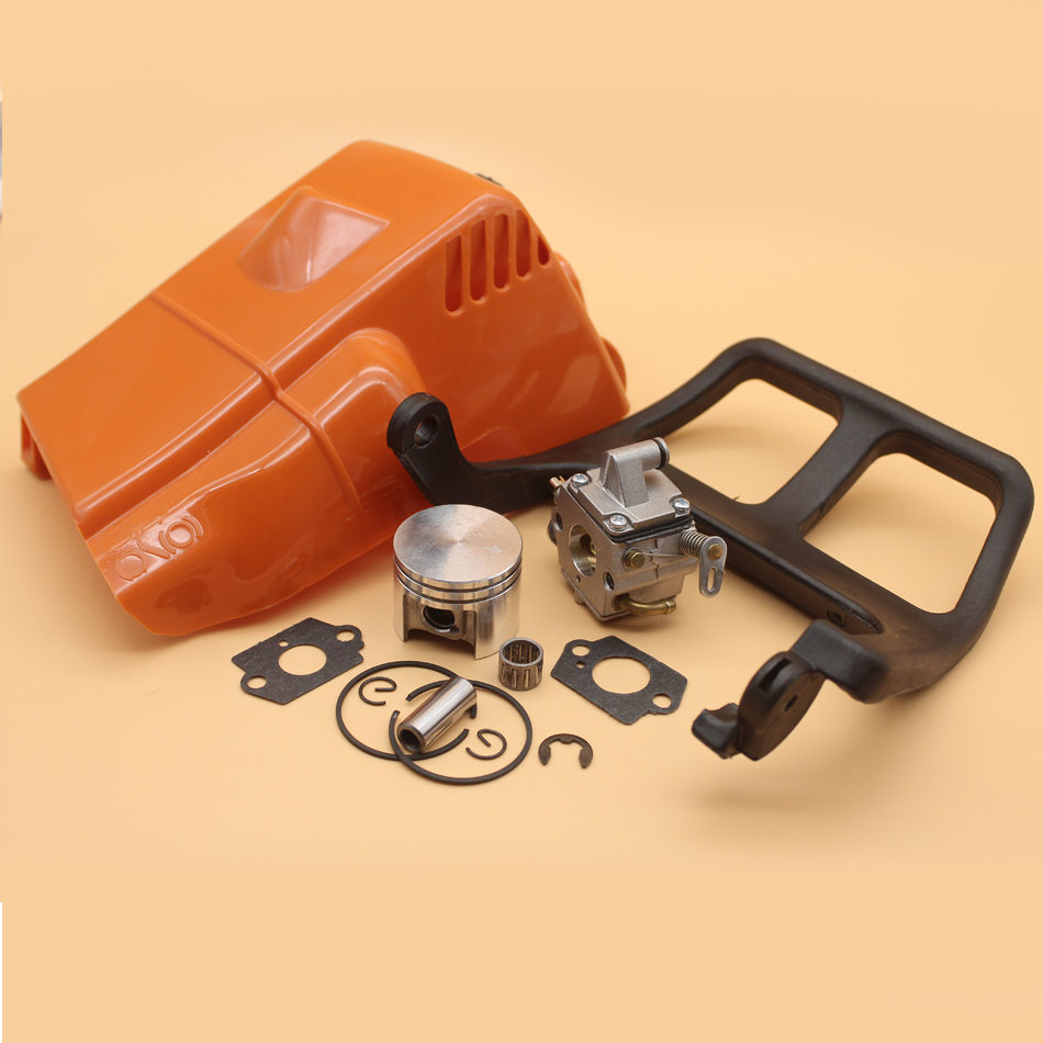 Top Engine Cylinder Cover Chain Brake Front Handle Carburetor Piston Kit For STIHL MS180 MS 180 018 Zama C1Q-S57B Chainsaw PartsTop Engine Cylinder Cover Chain Brake Front Handle Carburetor Piston Kit For STIHL MS180 MS 180 018 Zama C1Q-S57B Chainsaw Parts