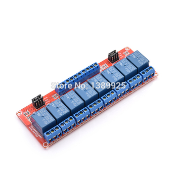 Free shipping 10pcs/lot 5V 8 Channel Relay Module With Isolated Support High And Low Level Trigger High Quality