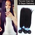 7A Unprocessed 4 Bundles Peruvian Virgin Hair Straight 100% Unprocessed Human Hair Weave Remy Queen Hair Store Rosa Hair Product