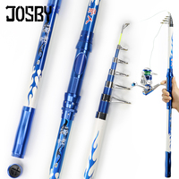 JOSBY Telescopic 2.1/2.4/2.7/3.0/3.6M Carbon Metal Reel Seat Carp Fishing Rod Spinning Fishing Pole for Outdoor Sports Tackle|Fishing Rods| |  -