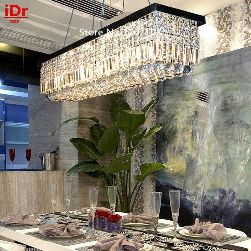 Length 1500mm Restaurant Lamps Creative Rectangular Crystal High End Qchandelier Dining Room Chandelier Lighting Bar