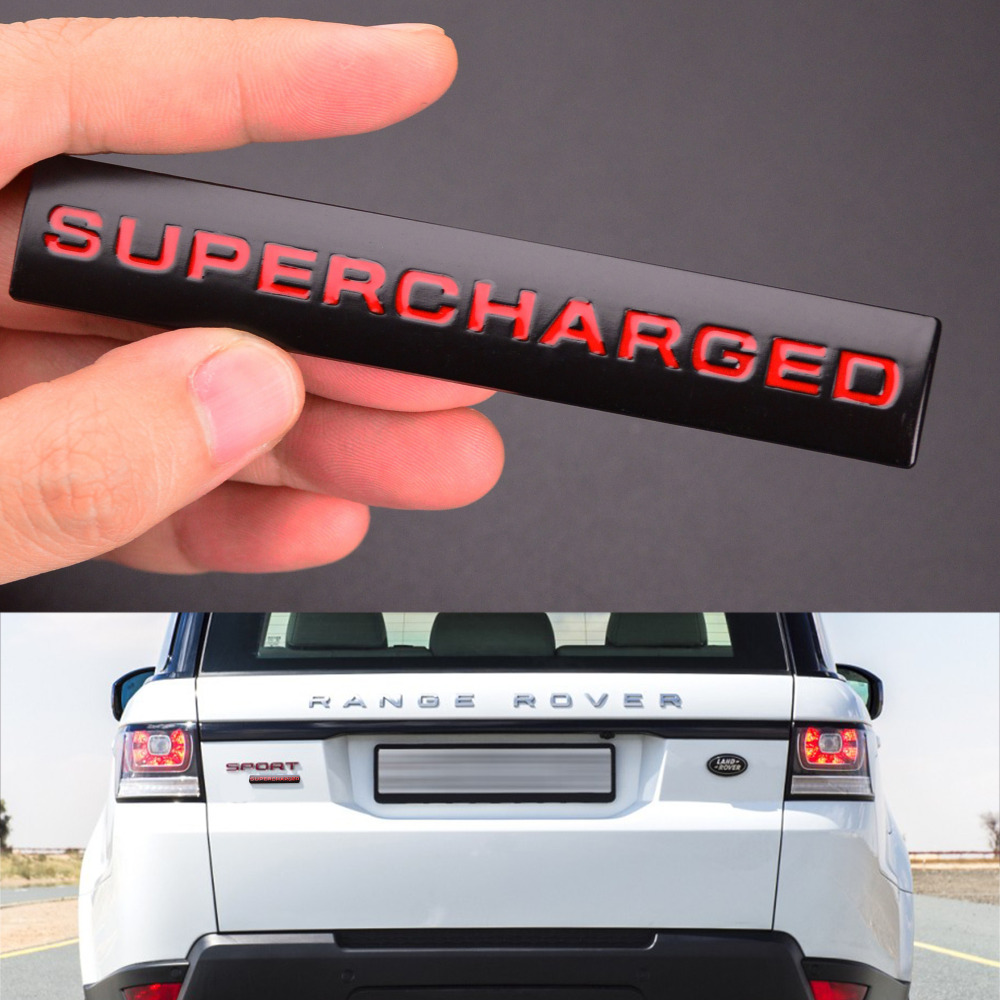 Metal Chromed Sport SUPERCHARGED Lettering Badge Emblem Sticker for Range Rover