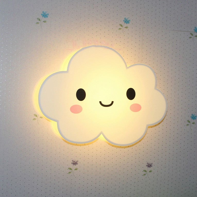Romantic Square Blue White Cloud LED Night Light Wall Lamp Bedroom Home Kids Children Wedding Party Decoration romantic heart star cloud lamps 3d led table night light battery operated home indoor bedroom party decoration kids gifts