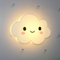 Romantic Square Blue White Cloud LED Night Light Wall Lamp Bedroom Home Kids Children Wedding Party Decoration
