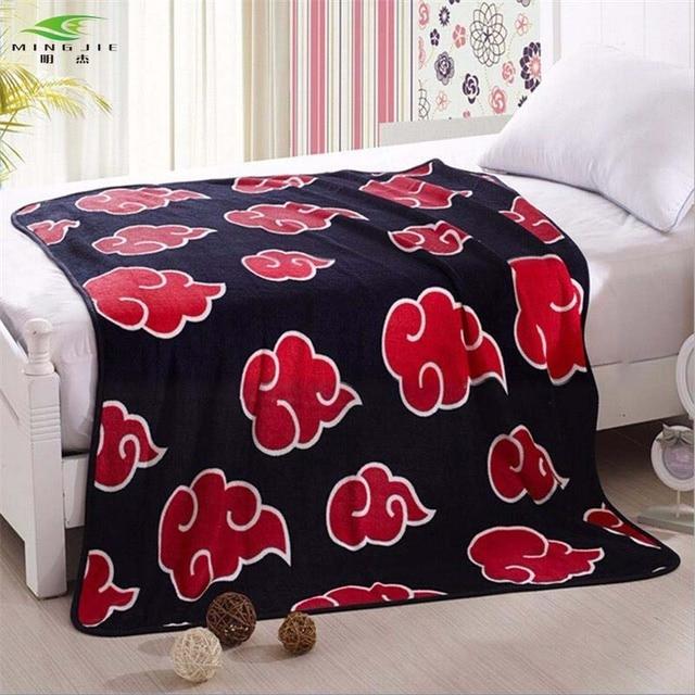 New Anime Naruto Shippuden Akatsuki Soft Warm Coral Fleece Plush Throw Blanket Bed rug dropship 150x200/120x150cm 1pcs kids gift