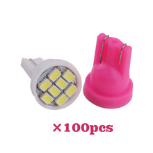 YOUEN 100Pcs/lot T10 8SMD 1206 LED Car Interior Light Bulbs Auto Indicator Lamp White Accessories
