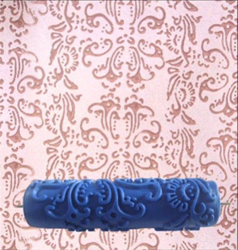 73 28 De Descuentorodillo Decorativo De La Pintura De La Pared De Goma 3d De 7 Pulgadas Rodillo Del Diseño Del Patrón Sin Agarre De La Manija
