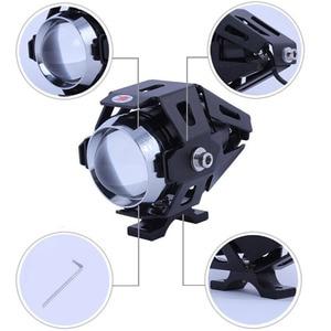 Image 2 - Huiermeimi 2PCS 125W Motorrad LED Scheinwerfer 12V 3000LMW U5 Motorrad Fahren Scheinwerfer Scheinwerfer Moto Spot Kopf Licht lampe DRL