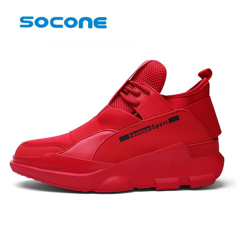 SOCONE Breathable Running Shoes for Man 2017 Athletic Jogging Men's Sport Sneakers Training Shoes Men Trainers zapatos hombre kelme 2016 new children sport running shoes football boots synthetic leather broken nail kids skid wearable shoes breathable 49