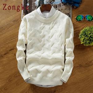 Zongke Wool Christmas Sweater Male Pullover Men Winter 87f1cb7a98