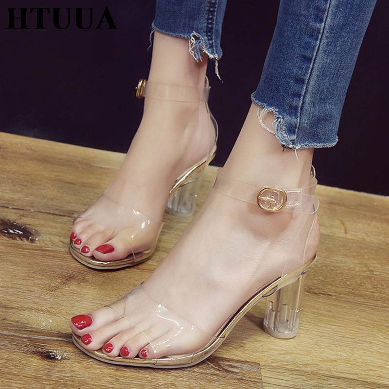 37ee877403a US $1.26 HTUUA 2019 New Clear PVC Women Sandals Summer Shoes ...