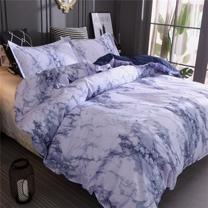 Image 3 - Simple Marble Bedding Duvet Cover Set Quilt Cover Twin King Size With Pillow Cas  great house warming gift modern dreaming stars