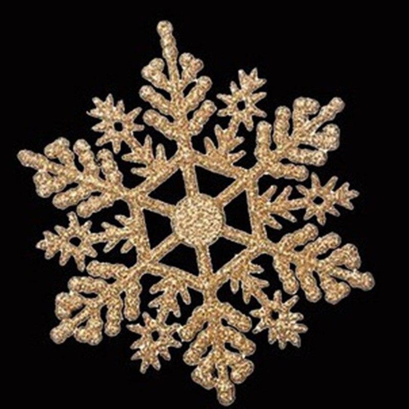 12Pcs 10cm Glitter Snowflake Christmas Ornaments Xmas Tree ...