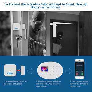 Image 4 - KERUI W20 nowy Model bezprzewodowy 2.4 calowy Panel dotykowy WiFi zabezpieczenie GSM System antywłamaniowy aplikacja na telefon karta RFID kontrola dla domu