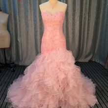 Jark Tozr 2019 Pink Robe Mariage Mermaid Wedding Dress