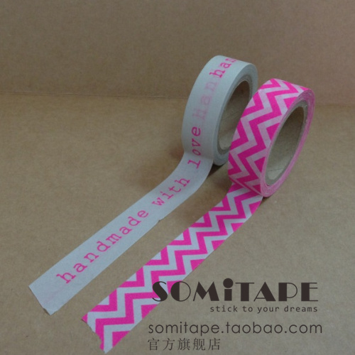 2013 HOT SALE somitape light pink set wave style paper tape diy decoration tape washi tape airbox 2013