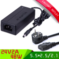 1set High Quality IC solution ce/ROHS/fcc passed AC DC 24V 2A Power Supply Adapter 24V 48W Adaptor Charger +EU PLUG CABLE