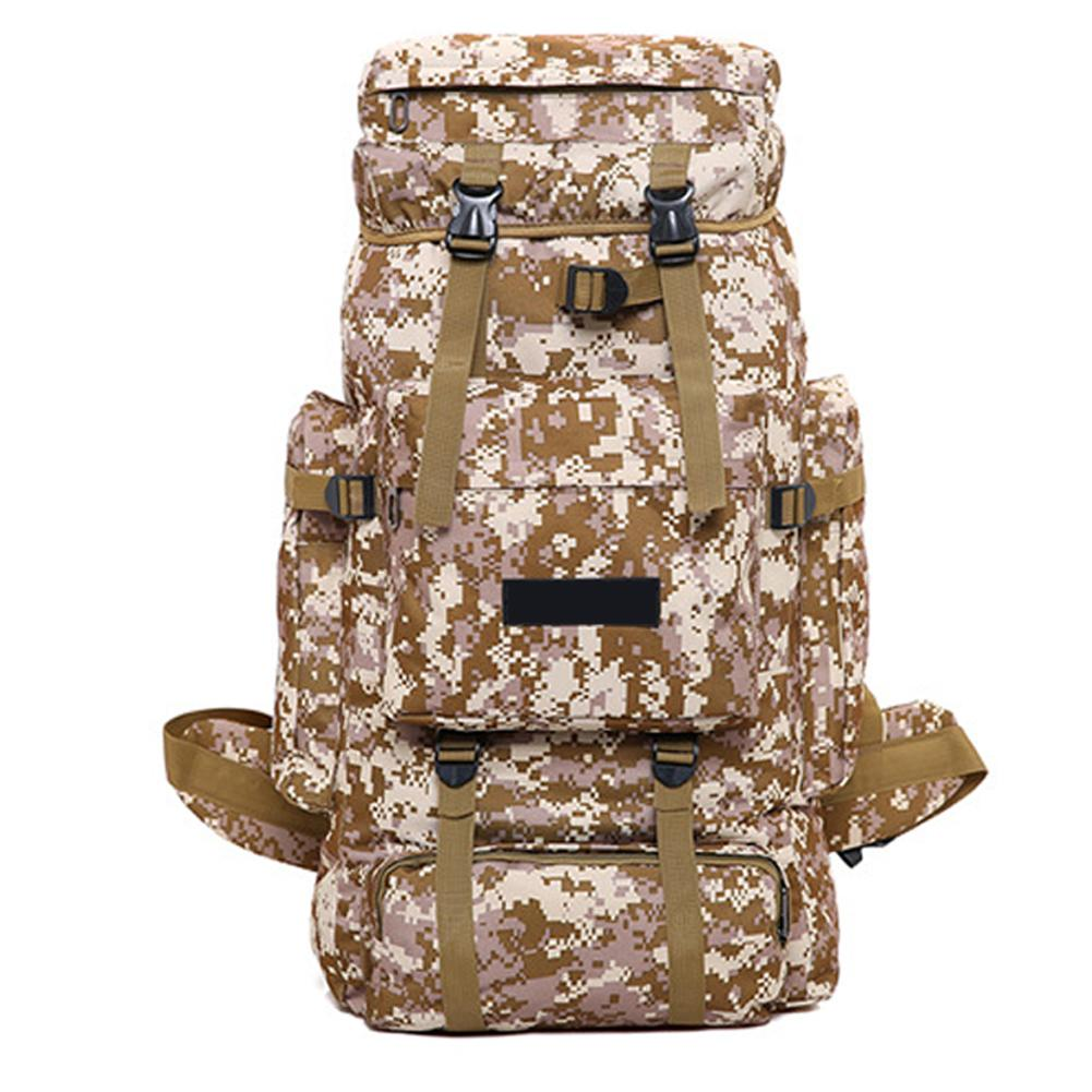 70L Outdoor Mountaineering Bag Camouflage Color Backpack Super Large Capacity Bag Hiking Backpack new 65l large capacity mountaineering bag camping outdoor bag hiking waterproof cover camouflage backpack fishing bag