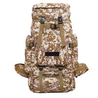 70L Outdoor Mountaineering Bag Camouflage Color Backpack Super Large Capacity Bag Hiking Backpack
