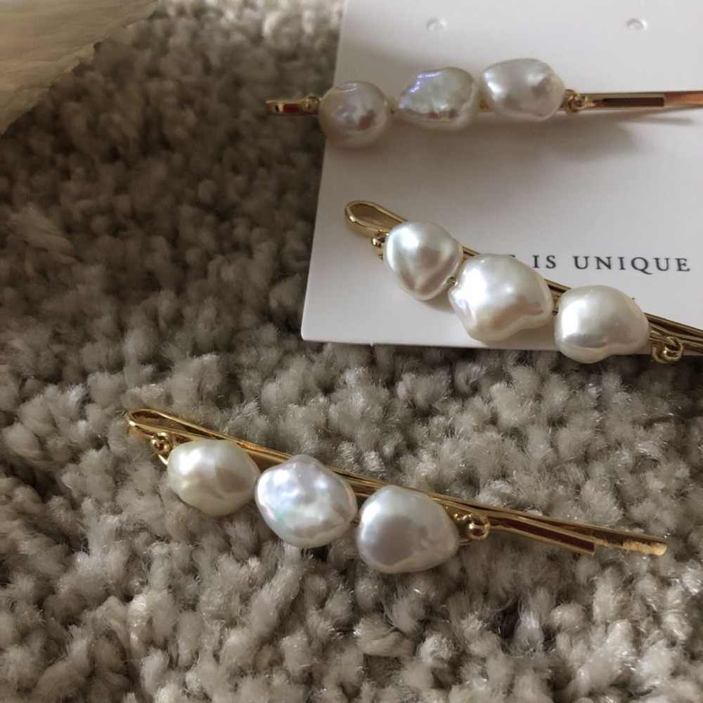 Natural freshwater pearls irregular shape hairpin simple fashion sweet Female Hair accessories 2019 Hot Selling for women/girls