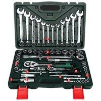 Двигатель Инструменты для ремонта автомобилей комплект 61 шт. инструмент Комбинации крутящий момент ключи ratchet шестигранного ключа механик