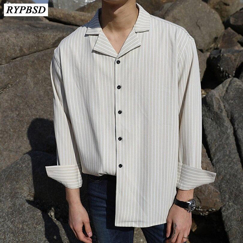 2019 Classic Black White Striped Shirt Men Long Sleeve Korean Fashion Trend Oversize Male Casual Shirts Camisa Social Masculina