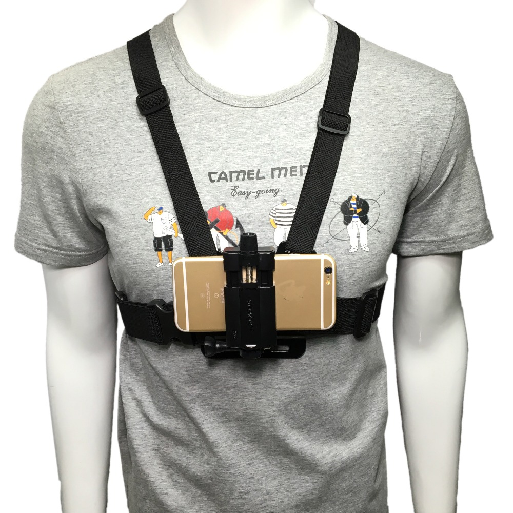 Universal Cell Phone Chest Mount Harness Strap Holder Mobile Phone Clip for Smartphone POV Video Outdoor GoPro SJCAM YI shootingUniversal Cell Phone Chest Mount Harness Strap Holder Mobile Phone Clip for Smartphone POV Video Outdoor GoPro SJCAM YI shooting